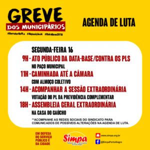 Ato Público da Data-base / Contra os PLs @ Paço Municipal | Rio Grande do Sul | Brasil