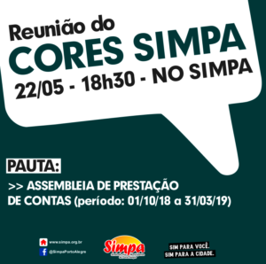 Reunião do Cores Simpa