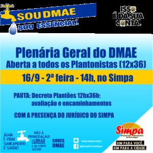 Plenária Geral do DMAE @ Simpa   Rio Grande do Sul   Brasil