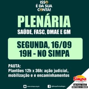 Plenária SAÚDE, DMAE, FASC e GM @ Simpa   Rio Grande do Sul   Brasil