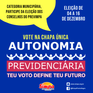 ELEIÇÃO CONSELHOS DO PREVIMPA