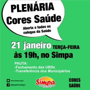 Plenária Cores Saúde @ Simpa | Rio Grande do Sul | Brasil