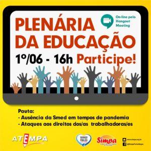 Plenária da Educação online