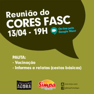 REUNIÃO DO CORES FASC @ ON-LINE PELO GOOGLE MEET