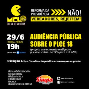 Audiência pública sobre o PLCE 18/20 (Reforma da Previdência)